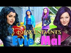 DIY Halloween Costumes: Disney's Descendants Mal & Evie: Makeup, Hair, and Costume 2015!! - YouTube