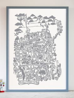 Wow!!! Such detail! - San Francisco Silver Screen Print by famile summerbelle $62.00