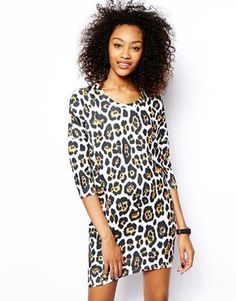 Vero Moda Leopard Print T-Shirt Dress