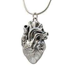 AgHalo - Anatomical Heart Locket Necklace in Sterling SIlver, $72.99 (http://www.aghalo.com/anatomical-heart-locket-necklace-in-sterling-silver/)