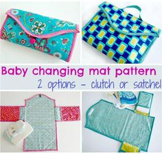 FREE baby changing pad clutch sewing pattern