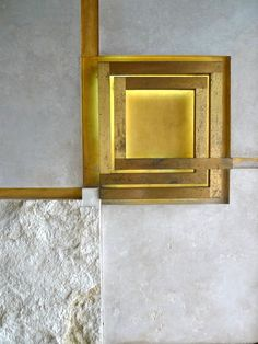 Gold | ゴールド | Gōrudo | Gylden | Oro | Metal | Metallic | Shape | Texture | Form | Composition | Carlo Scarpa (1906-78).