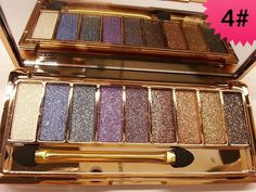 Glitter Eyeshadow Palette with Brush 9 colors Diamond Bright Colorful Makeup Eye Shadow