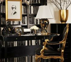 Charmant Luscious Gold And Black Interior Design, Inspired By Art Deco Style, In The  Ralph Lauren Home One Fifth Collection.