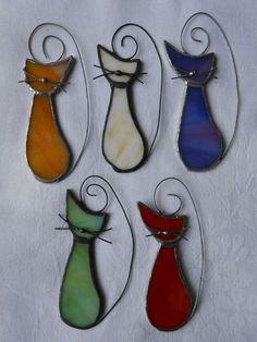20 % sale Cat kitty suncatcher stained glass par diversity4u
