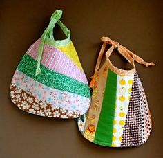 JCasaBestBib - great idea for making patchwork  bibs.