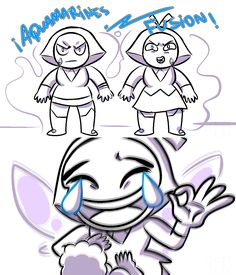 Aquamarine's Fusion, Crying Laughing Emoji   Steven Universe   Know Your Meme