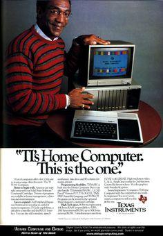 Vintage advertising: Texas Instruments TI-99/4A. PS. io ne ho uno: chi mi aiuta a rifarlo funzionare?