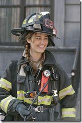Diane Farr as Laura Miles on Rescue Me.