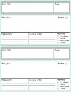 Blog post planner, and monthly planners. Free from *Between U and Me*