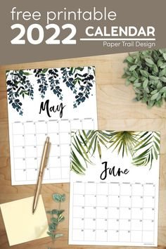 Use our printable monthly calendar 2022 pages with floral design to keep track of your commitments and schedule. Free Printable Calendar Templates, Printable Planner Pages, Floral Printables, Printable Crafts, Printable Wall Art, Free Printables, Banner Letters, Paper Trail, Calendar Pages