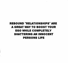 how do you know if your in a rebound relationship