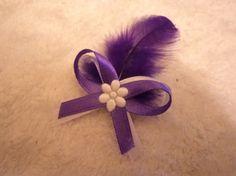 Svadobné pierko s fialovým perím+ biela+fialová