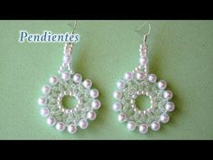 (4) DIY Pendientes de perlas y cristalinos DIY Pearl and Crystal Earrings - YouTube