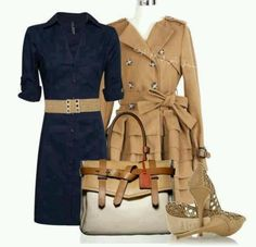 Trench Coat and Navy