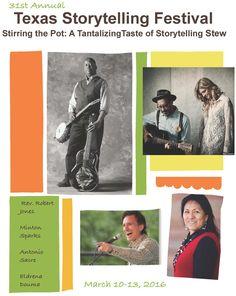 Texas Storytelling Festival March 10-13, 2016