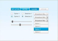 Small Blue Web Elements PSD UI Kit - http://www.welovesolo.com/small-blue-web-elements-psd-ui-kit/