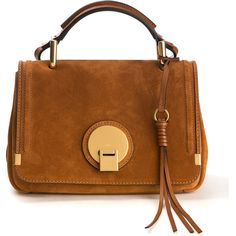 Chloé Caramel Leather And Suede Indy Handbag ($1,740) ❤ liked on Polyvore featuring bags, handbags, shoulder bags, leather man bag, chloe handbags, brown leather shoulder bag, handbags purses and hand bags