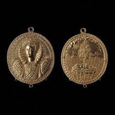 Gold medallion of Elizabeth I, Nicholas Hilliard, c. 1580-90