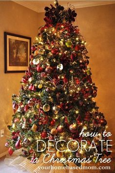How to:  Decorate a Christmas Tree - advice and tips to make your Christmas tree turn out perfectly for the holidays! #decoratingachristmastree