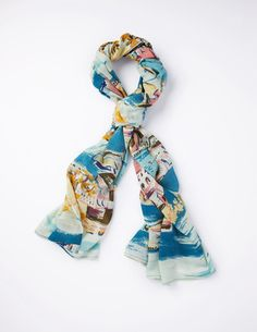 @BodenClothing Printed Scarf Sea Scape
