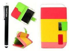 Hanicase Colorful PU Leather Wallet Type Magnet Design Flip Case Cover for Samsung Galaxy S4 Galaxy SIV i9500 (Red+Yellow+Pink) (Not Suit for Samsung S4 Active) - http://androidizen.com/shop/hanicase-colorful-pu-leather-wallet-type-magnet-design-flip-case-cover-for-samsung-galaxy-s4-galaxy-siv-i9500-redyellowpink-not-suit-for-samsung-s4-active/