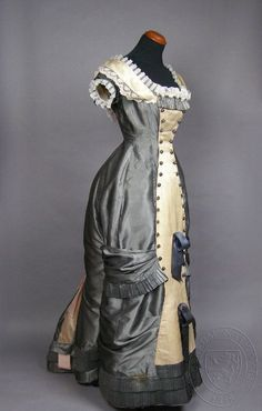 Dress, c 1870-1880. Czech. Silk and cotton. Museum of Decorative...
