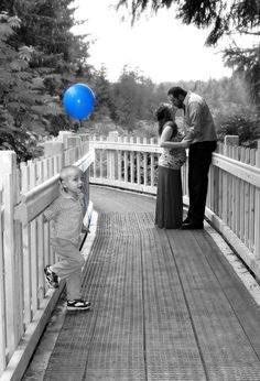 Great perspective and involvement of older kids. Gender reveal photo- credit Angela Buel