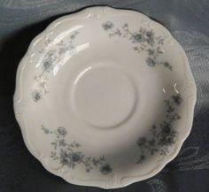 Johann Haviland Bavaria Blue Garland Saucer, White Porcelain, Germany #JohannHaviland
