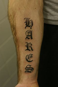 old english lettering tattoo on forearm tattoobitecom old english font tattoo forearm
