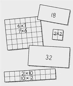 Array cards are much better to use for practicing multiplication facts than regular flashcards.