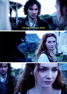 """Nor I"" - Demelza and Ross #Poldark ((He had it comin ))"