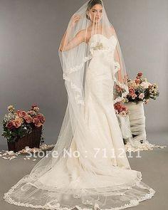 Stylish Chapel Length Yarn Bridal Wedding Veils on AliExpress.com. $15.69