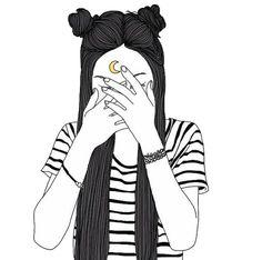 tumblr girl w buns //