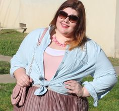 The Soft Pastels of Spring  #plussizebloggers #plussizefashion