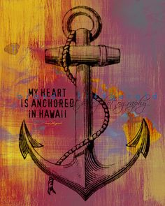 Heart Anchored in Hawaii  8 x 10  Maui Hawaii by BrandiFitzgerald, $20.00