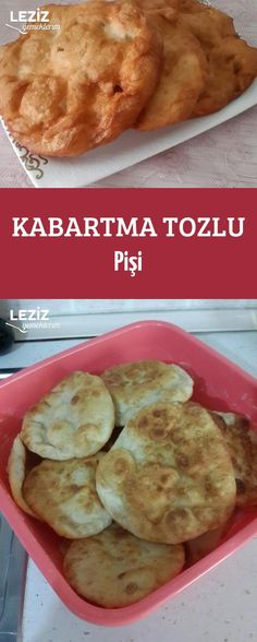 Kabartma Tozlu Pişi Donut Recipes, Baking Recipes, Middle Eastern Recipes, Beignets, Churros, Donuts, Fries, French Toast, Muffin