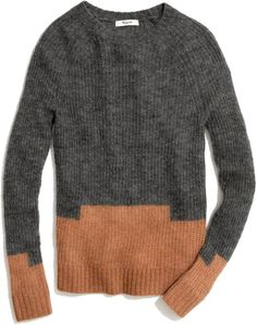 Madewell Gray Colorstep Sweater