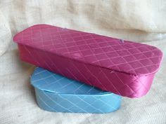 Items similar to Set of Two Quilted Storage Boxes, Pink Storage Container, Blue Storage Container, TheEarlyBirdFinds on Etsy Decorative Storage Boxes, Vintage Storage, Storage Bins, Storage Containers, Vintage Cups, Vintage Tea, Ornament Storage, Wooden Cutouts, Shops
