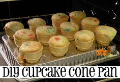 Ice Cream Cone Cupcakes and a tutorial to create your own baking pan  @ House of Hepworths