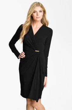 MICHAEL Michael Kors Faux Wrap Dress | Nordstrom  http://shop.nordstrom.com/S/michael-michael-kors-faux-wrap-dress/3334629?origin=category=0=BLACK=0