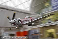 Warbird P51D Mustang of wwII. Imperial war museum in London.