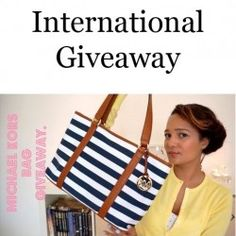 Michael Kors bag | Purse giveaway ^_^ http://www.pintalabios.info/en/fashion_giveaways/view/en/2035 #International #MakeUp #bbloggers #Giveaway