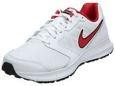 Nike Downshifter 6 Mens 684652-103 White Red Athletic Running Shoes Size 7.5