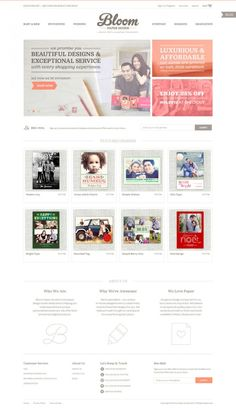 Bloom Paper Goods - Online Photo Cards - Best website, web design inspiration showcase