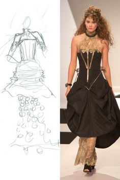 Steampunk inspired dress - the skirt can be raised and lowed by the gears on the hips!!!!! Project Runway Under the Gunn, designed by Natalia Fedner