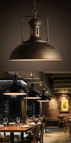 2pcs American Rustic Style Loft Vintage Industrial Lighting LED Pendant Lights Fixtures Retro Lamp Lamparas Colgantes