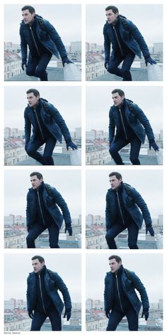 Richard Armitage / Daniel on a Berlin rooftop