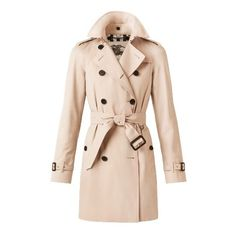 Burberry The Westminster - Mid-Length Heritage Trench Coat found on Polyvore