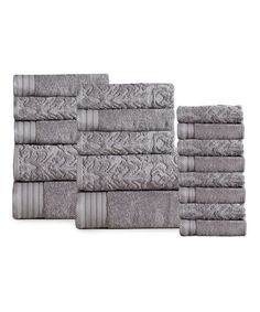 d9deb3f444 Love this Gray Panache Home Paisley 18-Piece Towel Set by Panache Home on